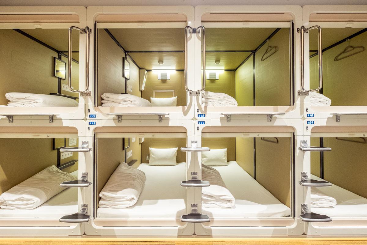 Hasil gambar untuk capsule hotel price