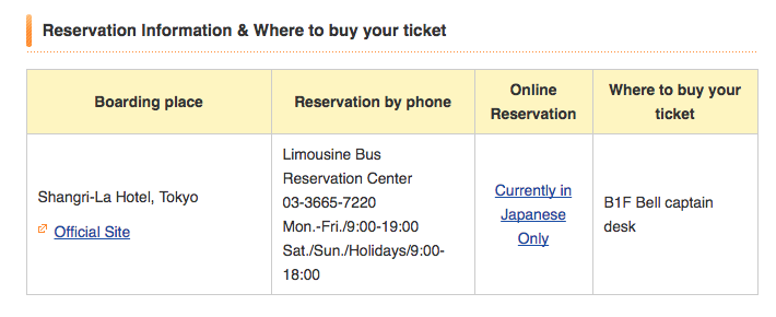 Limousine Bus Direct Service To Greater Tokyo Tokyo